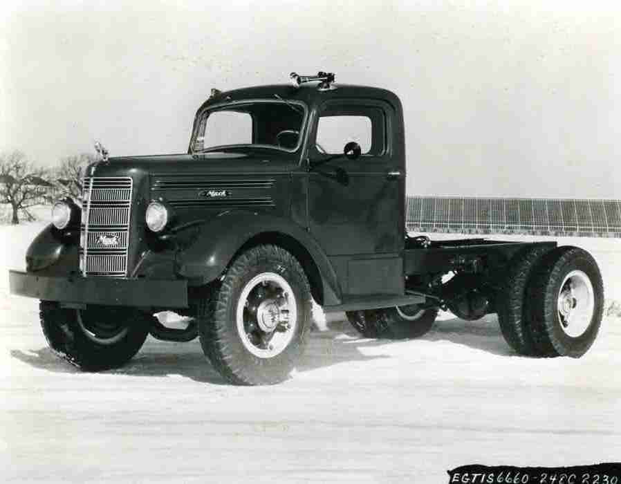 Actual photo of the first Mack Truck sold in 1948